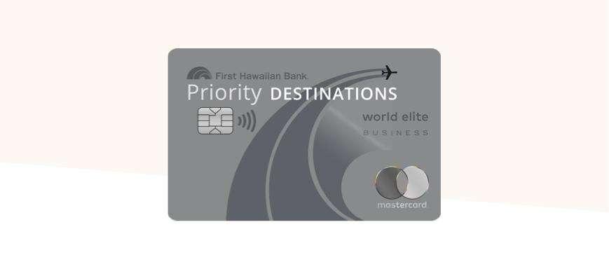 Priority Destinations World Elite Mastercard