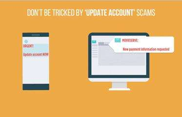 Don't be tricked by update account scams